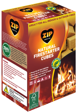 Zip Natural Firestarter Cubes